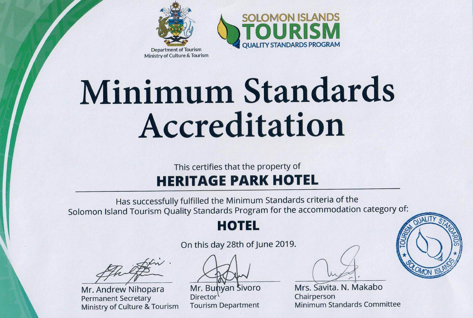 Minimum Standards Accreditation